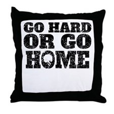 Go Hard Or Go Home Football Throw Pillow