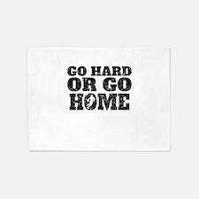 Go Hard Or Go Home Basketball 5'x7'Area Rug