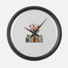 The World's Best Nurse Large Wall Clock