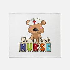 The World's Best Nurse Throw Blanket
