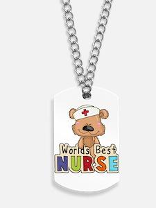 The World's Best Nurse Dog Tags