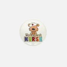 The World's Best Nurse Mini Button (10 pack)