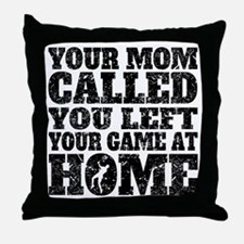 You Left Your Game At Home Badminton Throw Pillow