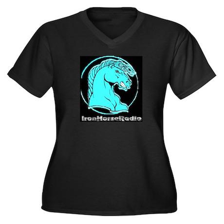 IHRA apparel Women's Plus Size V-Neck Dark T-Shirt