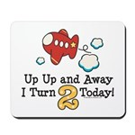 2nd Birthday Airplane Mousepad