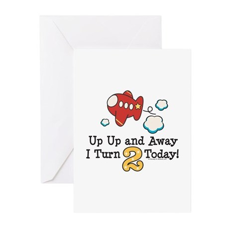 2nd Birthday Airplane Greeting Cards (Pk of 10)