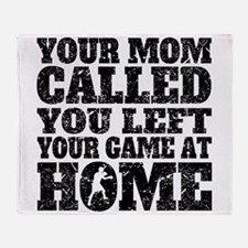 You Left Your Game At Home Boxing Throw Blanket