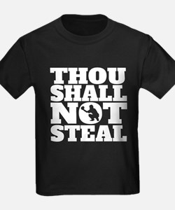 Thou Shall Not Steal Baseball Catcher T-Shirt