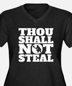 Thou Shall Not Steal Baseball Catcher Plus Size T-