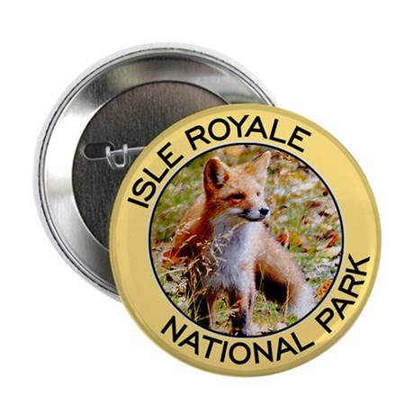 Isle Royale NP (Red Fox) Button
