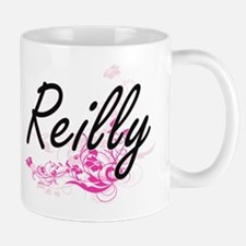 Reilly surname artistic design with Flowers Mugs