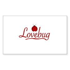Lovebug Rectangle Decal