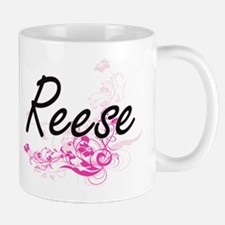 Reese surname artistic design with Flowers Mugs