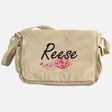 Reese surname artistic design with F Messenger Bag