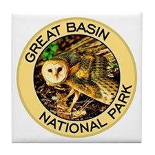 Great Basin NP (Barn Owl) Tile Coaster