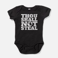 Thou Shall Not Steal Baseball Catcher Baby Bodysui