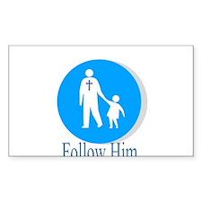 Follow Him Rectangle Decal