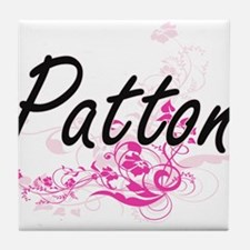 Patton surname artistic design with F Tile Coaster