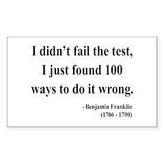 Benjamin Franklin 13 Rectangle Decal