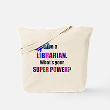 Librarian Superhero Humor Tote Bag
