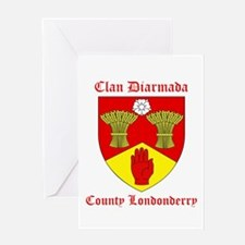 Clan Diarmada - County Londonderry Greeting Cards