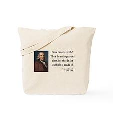 Benjamin Franklin 14 Tote Bag