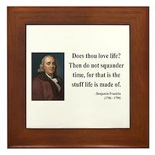 Benjamin Franklin 14 Framed Tile