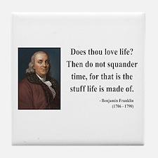 Benjamin Franklin 14 Tile Coaster