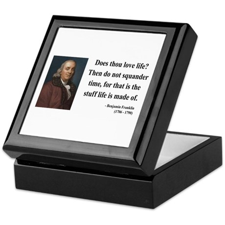 Benjamin Franklin 14 Keepsake Box