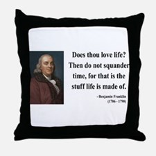 Benjamin Franklin 14 Throw Pillow