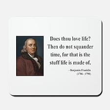 Benjamin Franklin 14 Mousepad