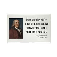 Benjamin Franklin 14 Rectangle Magnet