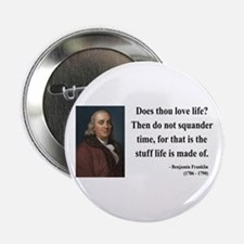 "Benjamin Franklin 14 2.25"" Button"