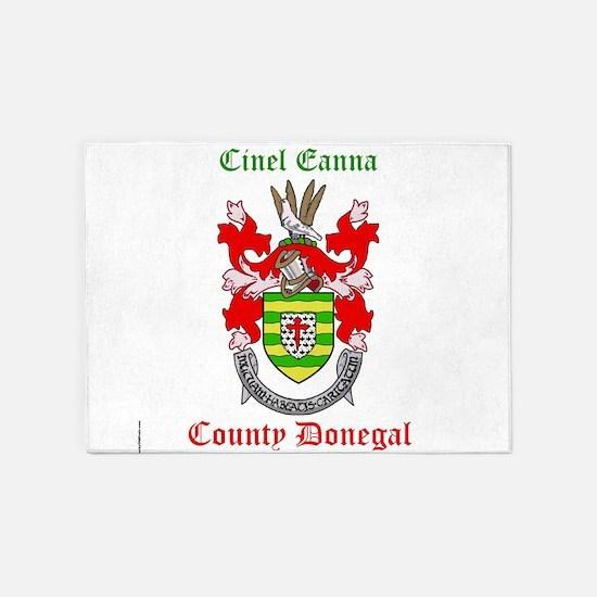 Cinel Eanna - County Donegal 5'x7'Area Rug