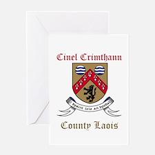 Cinel Crimthann - County Laois Greeting Cards
