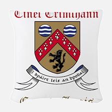 Cinel Crimthann - County Laois Woven Throw Pillow