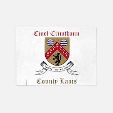 Cinel Crimthann - County Laois 5'x7'Area Rug