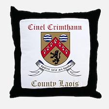 Cinel Crimthann - County Laois Throw Pillow