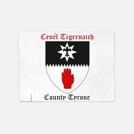 Cenel Tigernaich - County Tyrone 5'x7'Area Rug