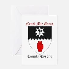 Cenel Mic Earca - County Tyrone Greeting Cards