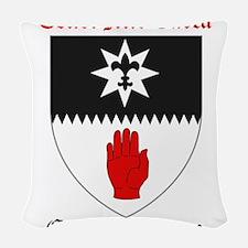 Cenel Mic Earca - County Tyrone Woven Throw Pillow