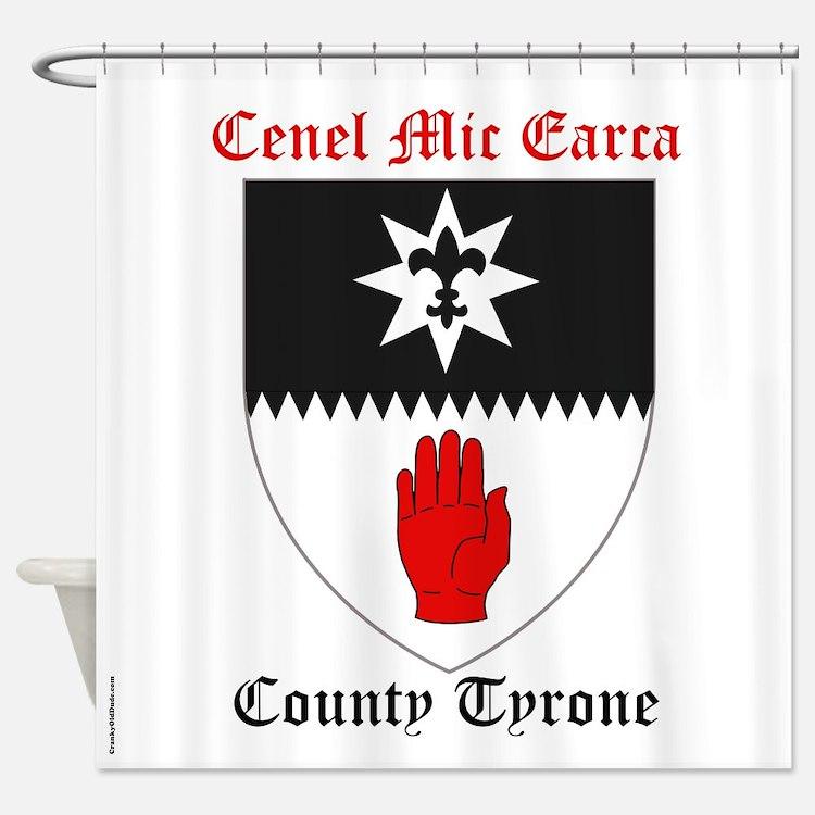 Cenel Mic Earca - County Tyrone Shower Curtain