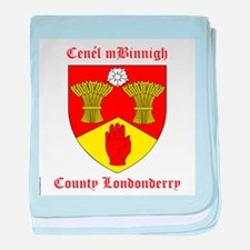 Cenel mBinnigh - County Londonderry baby blanket