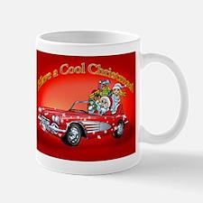Vintage Car Santa Mugs
