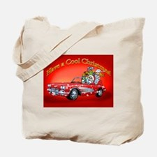 Vintage Car Santa Tote Bag