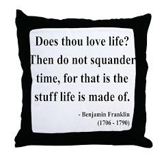 Benjamin Franklin 14 Throw Pillow