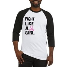 Funny Fight like a girl grunge Baseball Jersey