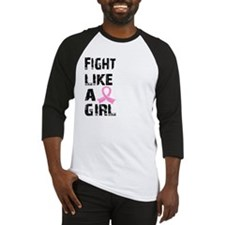 Funny Brain cancer fight like a girl Baseball Jersey