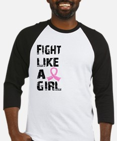Funny Fight like a girl Baseball Jersey