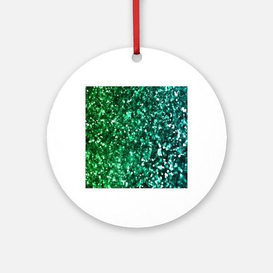 Cute Green Round Ornament